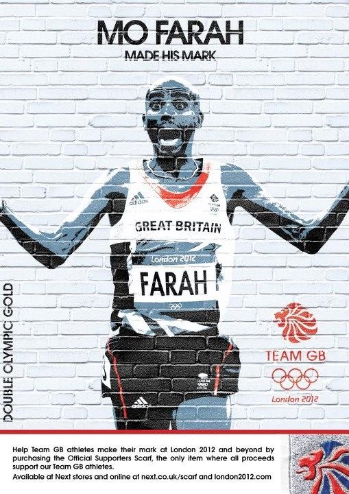 Mo Farah Team GB Made his mark TWICE!!!