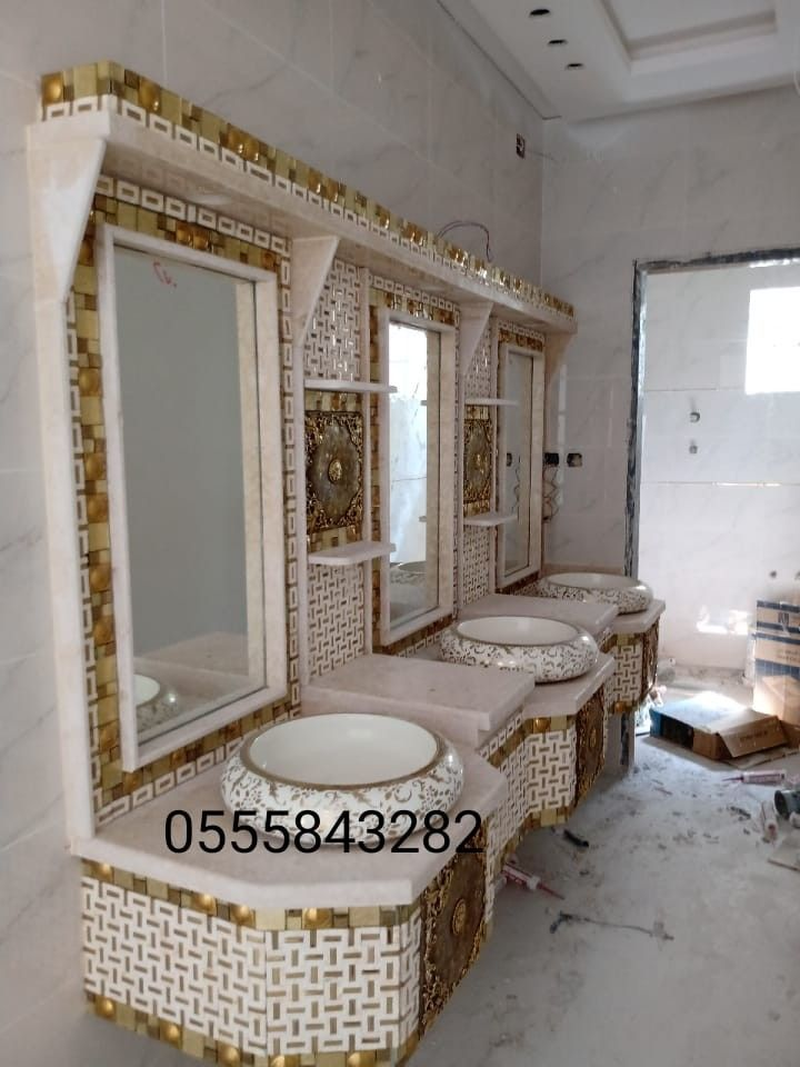 مراية حائط مودرن فضى سفير ارت للديكور Mirror Wall Mirror Decor