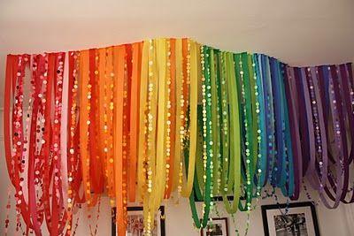 rainbow streamers #rainbow