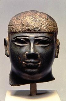 Bronze and electrum statue of 25th Dynasty Kushite Ethiopian king Shabaka, c. 700BC.