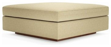 Jackson Ottoman - contemporary - ottomans and cubes - True Modern