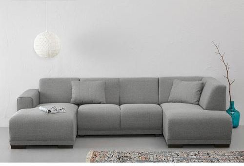 The U-shaped couch. Bornholm has a clean look and is fully lined with a warm gray polyester fabric. The couch has a low rectangular feet. The U-shape, there are a lot of seats..