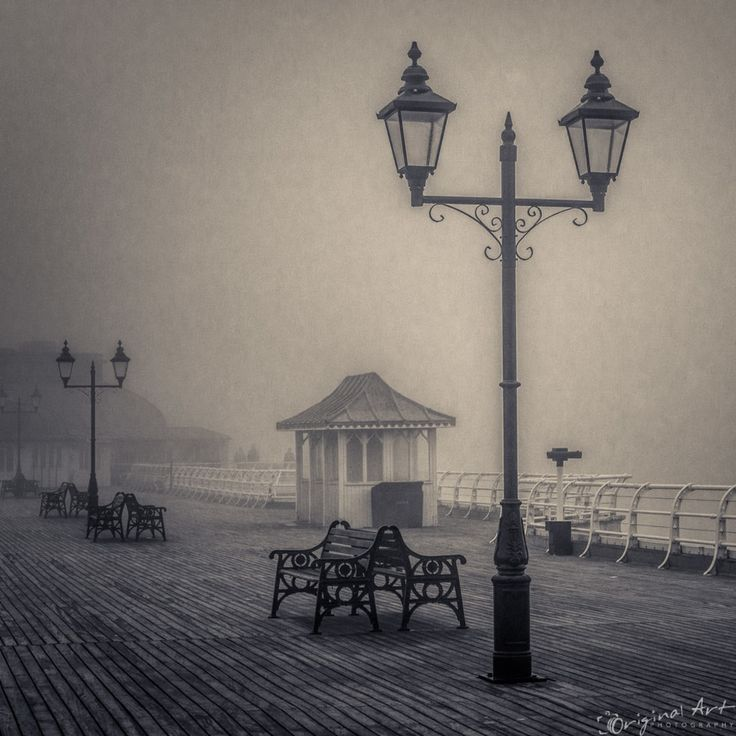 Cromer Pier in the #fog with vintage style processing by Joe Lenton