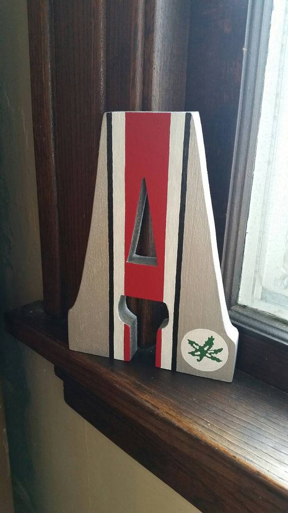 Ohio State Buckeyes Stand Alone Wooden Letter by FromARestlessMind