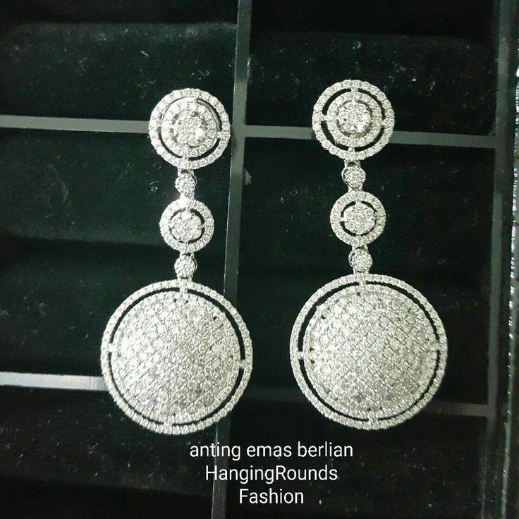 New Arrival🗼. Anting Emas Berlian HangingRounds Fashion💎.   🏪Toko Perhiasan Emas Berlian-Ammad 📲+6282113309088/5C50359F  Cp.Antrika👩.  https://m.facebook.com/home.php #investasi#diomond#gold#beauty#fashion#elegant#musthave#tokoperhiasanemasberlian
