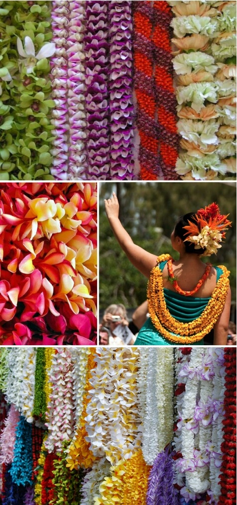 Lei Can Be Made With Construction Paper Yarn Solid: ~Beautiful Hawaiian Leis~ You Can Never Forget To Adorn