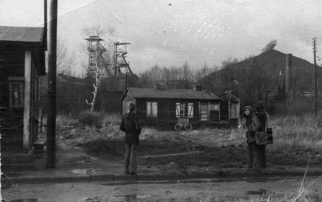 Fosse Sabatier de la Compagnie des mines d'Anzin à Raismes, Nord-Pas-de-Calais, France. Date entre 1975 et 1980. Sabatier pit the Company Anzin mines Raismes, Nord-Pas-de-Calais, France. Date between 1975 and 1980