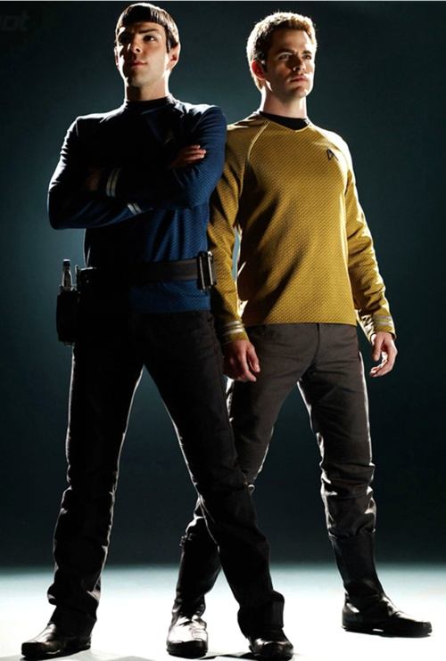 Spock & James T. Kirk. Chris Pine and Zach Quinto the only men who could get me interested in Star Trek.