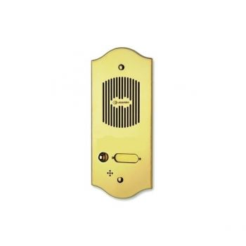 Brass, luxurious, elegant for a certain type of house.