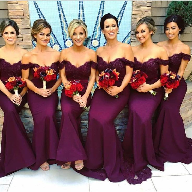bridesmaid Dresses,mermaid prom dress,lace appliques evening gowns,purple