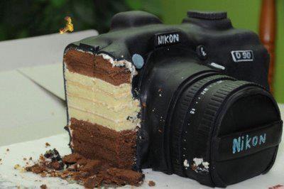 Mmm camera cake: Idea, Nikon Cake, Sweet, Camera Cakes, Cameracake, Food, Birthday Cake, Photography, Cameras
