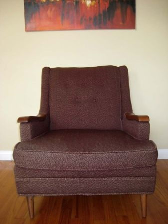 Los Angeles: Mid Century Low Danish Walnut / Upholstered Brown Lounge Chair  $250   Http. Brown LoungeLounge ChairsVintage ...