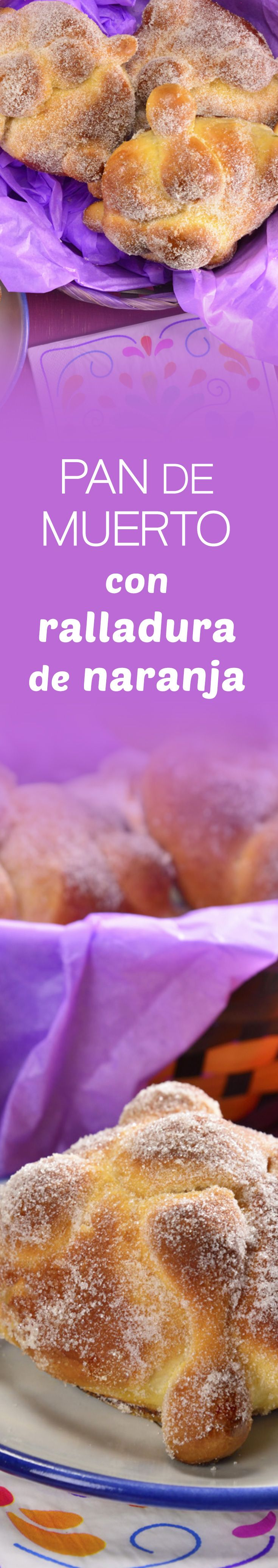 Prepare this traditional and spongy pan de muerto for the day of the dead parties with a rich flavor of orange and frosty sugar that you will love. Mexican Sweet Breads, Mexican Bread, Mexican Dishes, Mexican Cooking, Mexican Food Recipes, Latin Food, Cookie Desserts, Desert Recipes, Cakes And More