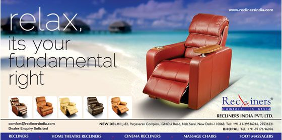 Home theaters are not just about giant screens and surround sound, but about having comfortable seating that lets you enjoy your favorite movies, sports, and shows. Make that 3 hour Bollywood blockbuster movie a comfortable experience with our ergonomically designed home theater recliners!
