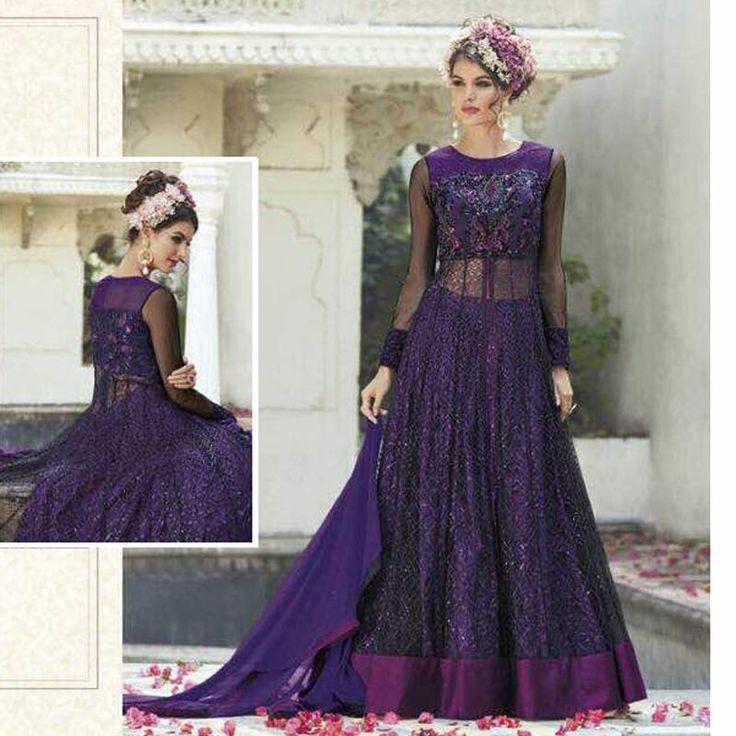 Wedding Lehnga Style Suit Indian Pakistani EID Partywear Designer Anarkali Dress #Handmade #SalwarKameez