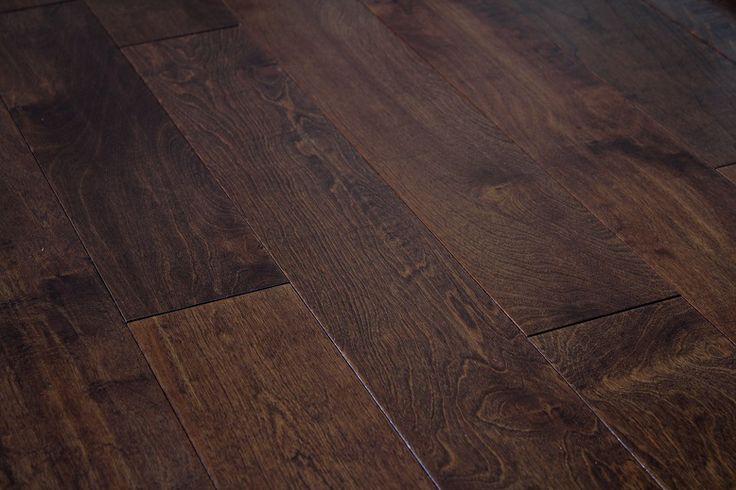 Darker color hardwood floors tend to give or create an elegance ambiance. Engineered Hand Scrape Hardwood Flooring. www.GlamourFlooringLA.com