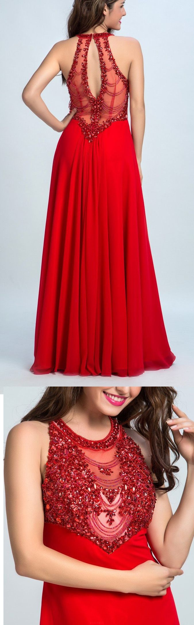 Red Prom Dresses, Long Prom Dresses, Open Back Prom Dresses, Long Red Prom Dresses, Custom Prom Dresses, Red Long Prom Dresses, Prom Dresses Long, Long Evening Dresses, Long Red dresses, Open Back Dresses, Red Long dresses, Open-back Evening Dresses, Beaded/Beading Evening Dresses, Chiffon Prom Dresses, Round Prom Dresses