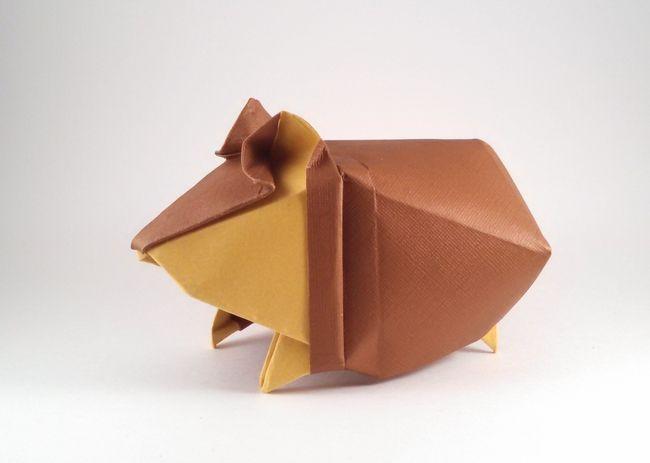 origami facile hamster