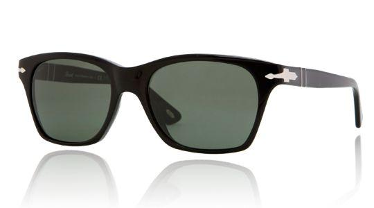 Persol for woman po3027s  - 95\/31 (BLACK\/crystal green), Designer Sunglasses Caliber 53