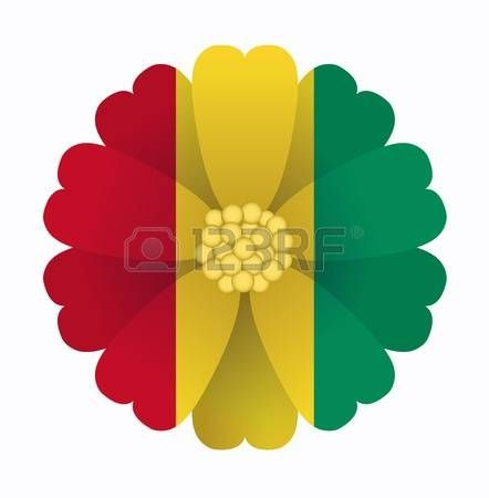 illustration of flower Flag Guinea photo