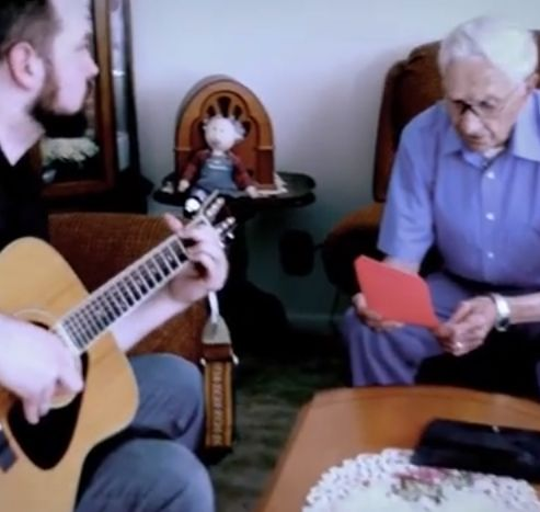 96 Year Old Man Enters a Song-Writing Contest and Makes the World Cry - Please watch this. A 96 year old man whose wife of 75 years recently passed away writes a song for her. So touching. So beautiful. A must watch today.