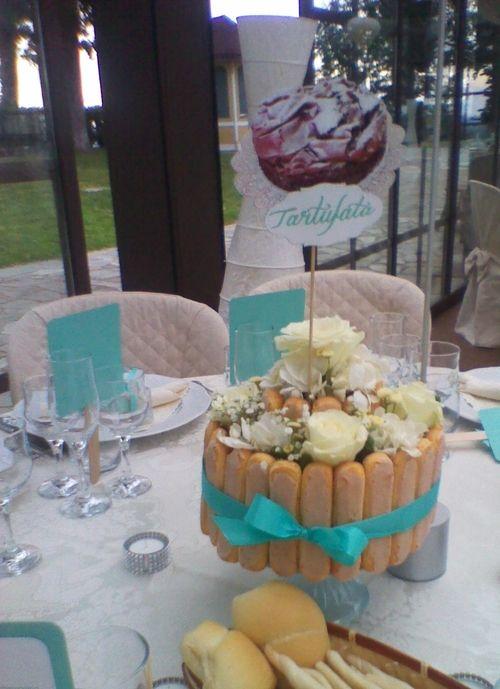 Torta Nuziale - esempio di centrotavola particolare - Tiffany and Avalanche