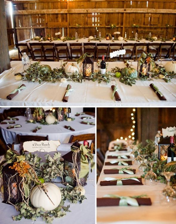 tablescapes?Ideas, Wedding Receptions, Tables Sets, Wedding Decor, Country Wedding, Barns Parts, White Pumpkin, Barns Wedding, Fall Wedding