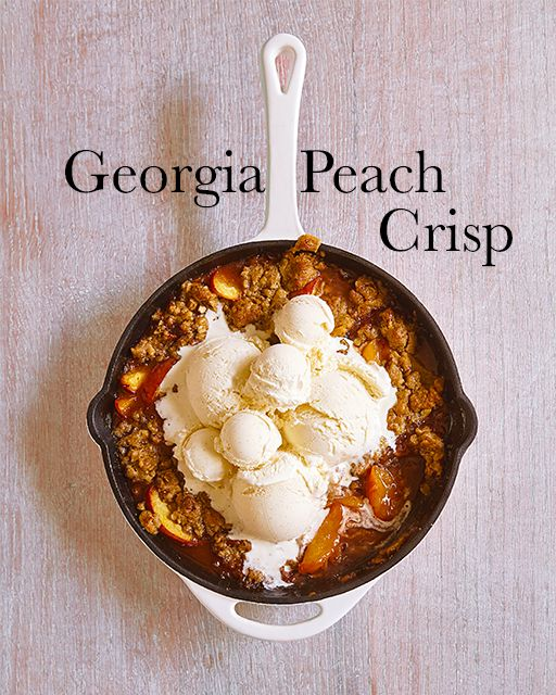 Robyn Stone's recipe for Georgia Peach Crisp from her new book ADD A PINCH!