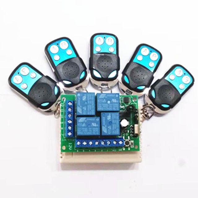 433Mhz Universal Wireless Remote Control Switch DC12V 4CH