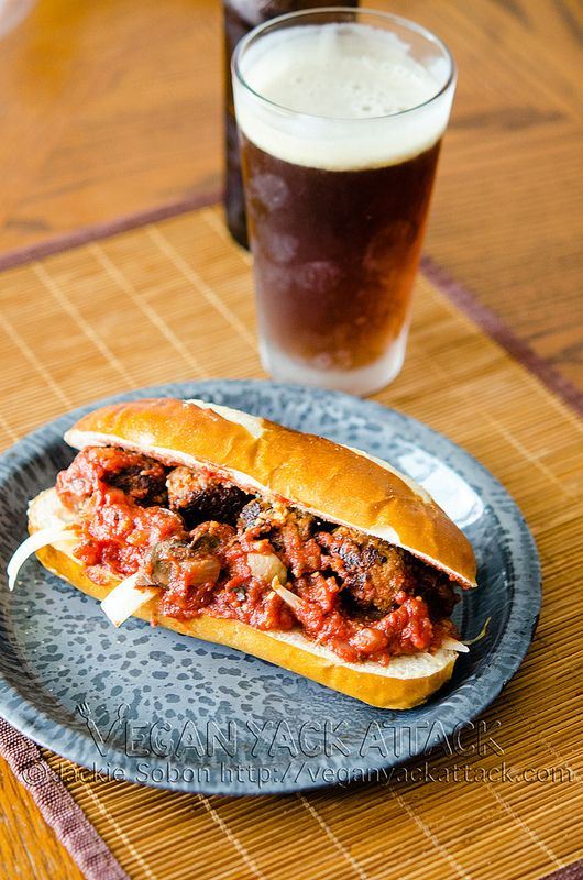 Vegan Sandwiches Save the Day is all over our blogosphere lookin' good! Pictured: the scrumptious Meatball(less) Sub.