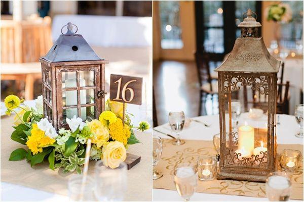 Unique wedding reception candle centerpieces lantern