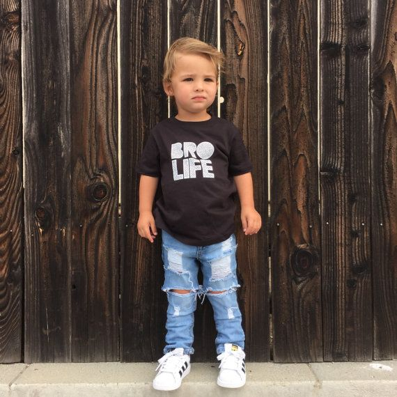 Bro Life Tshirt  Hipster Baby Tee Shirt  Baby T by CurlyQsCounter