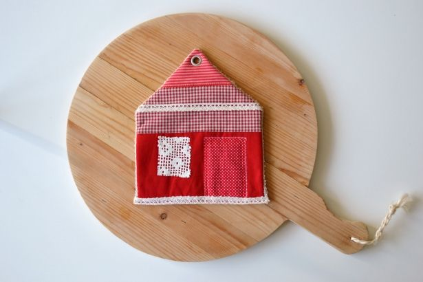 Red And White Cottage Patchwork Kitchen Potholders - Clearance Sale by redstitch on Gourmly