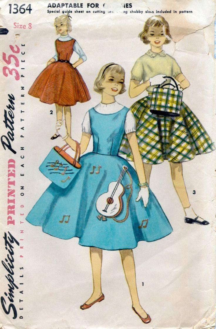 20 besten Vintage Patterns Bilder auf Pinterest | Vintage kleider ...