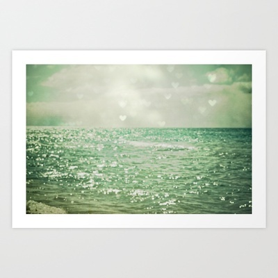 Sea of Happiness Art Print by Joy StClaire - $19.00: Wall Art, Laughing Living, Coastal Cottages, Joy Stclair, Olivia Joy, Art Prints, Happy Art, Joystclair, Frames Art