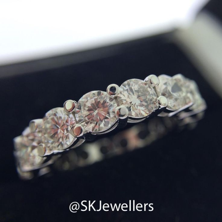 The ultimate romantic gift: A Diamond Eternity ring. Creating the perfect eternity ring involves time, patience & craftsmanship. I start by sorting a parcel of diamonds by cut, clarity, and colour. The next step is measuring every single diamond, making sure they are all the exact same millimeter in diameter- this is what ensures the diamonds line up straight and can be set perfectly.  www.samuelkleinberg.com