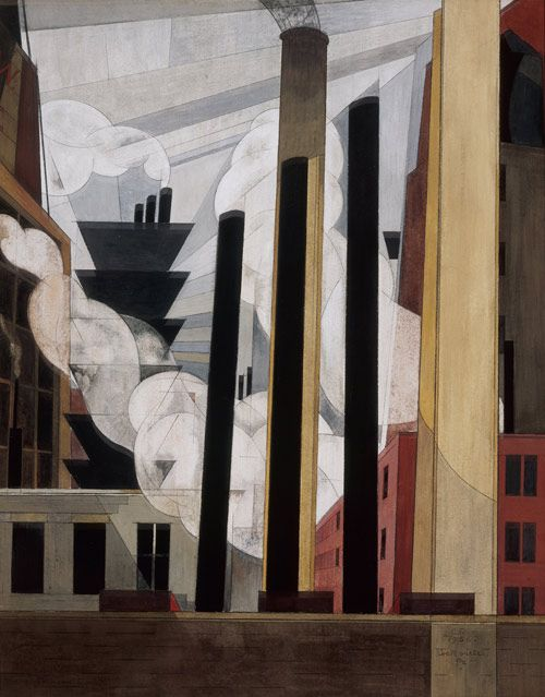 Charles Demuth Paintings | End of the Parade: Coatesville, Pa.