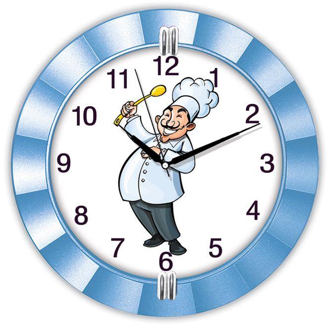 Dekoratif Aşçılı Mutfak Duvar Saati  Ürün Bilgisi ;  Ürün maddesi : Alüminyum çerceve, Gerçek cam Ebat : 32 cm  Mekanizması (motoru) : Akar saniye, saat sessiz çalışır Dekoratif Aşçılı Mutfak Duvar Saati Saat motoru 5 yıl garantilidir Yerli üretimdir Duvar Saati sağlam ve uzun ömürlüdür Kalem pil ile çalışmaktadır Gördüğünüz ürün orjinal paketinde gönderilmektedir. Sevdiklerinize hediye olarak gönderebilirsiniz