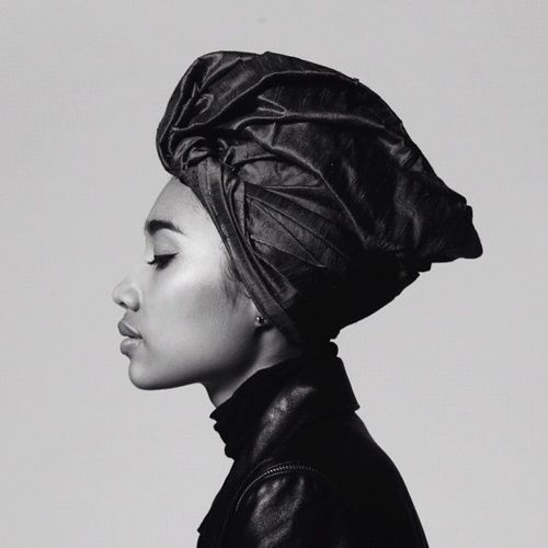 Scarves - Head wrap in black and white