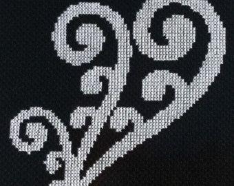 New Zealand Maori Koru 2 Cross Stitch Pattern PDF by KiwiXCrossing