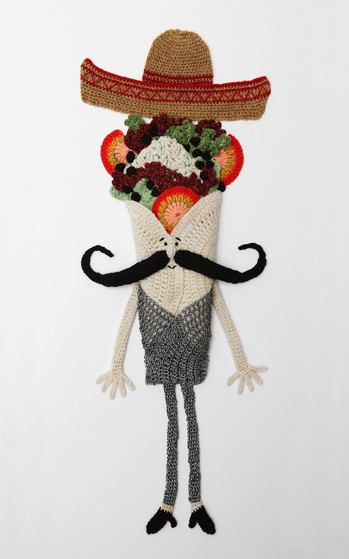 6 Times Taco Tuesday Touched Greatness Through Knit & Crochet - Mexican Burrito by Kate Jenkins