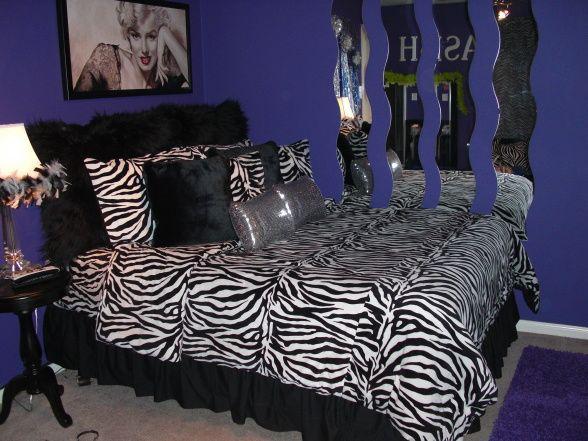 girls purple zebra room ideas purple and zebra girls room designs decorating - Zebra Bedroom Decorating Ideas