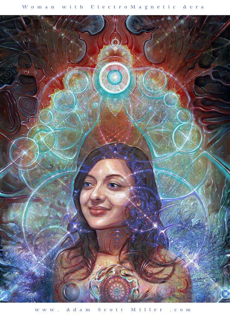Woman with ElectroMagnetic Aura by Adam Scott Miller:
