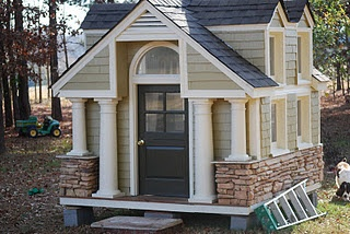 """""""Mini me"""" craftsman-style playhouse I want my kids to have as cool of a clubhouse as I did growing up!"""