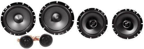 """Package: Pair Alpine Sps-610c 6.5"""" 2 Way Pair of Component Car Speakers + Alpine Sps-610 6.5"""" 2 Way Pair of Coaxial Car Speakers"""