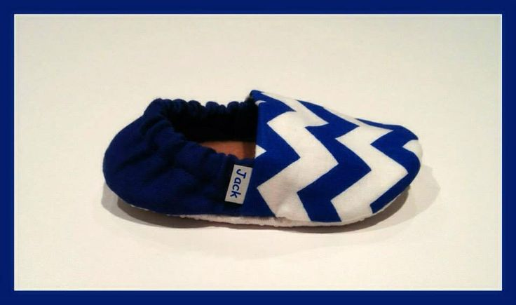 Blue Chevron Baby Booties (Toronto Maple Leafs inspired)