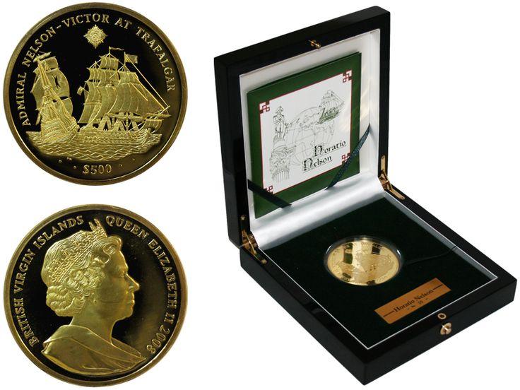 Виргинские острова 500 долларов, 2008 год. Горацио Нельсон. Трафальгарское сражение