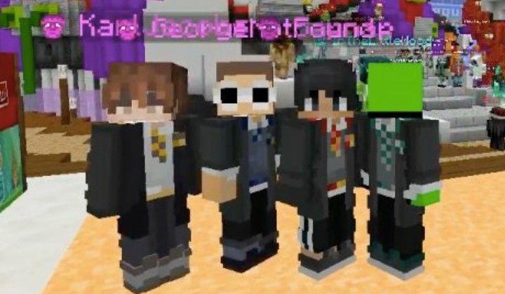 Their Hogwarts Matching Skins Mcc 11 Dream Team Minecraft Skin Minecraft Youtubers