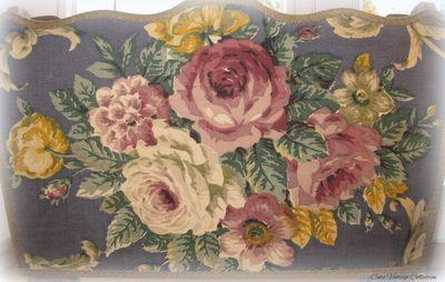 Antique Style Floral Magazine Holder 1950s - Cats Vintage Room