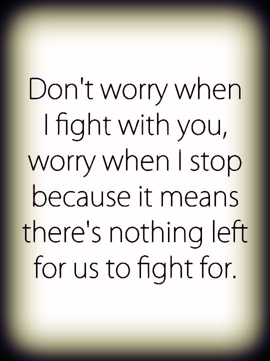 a relationship without fighting quotes about winning